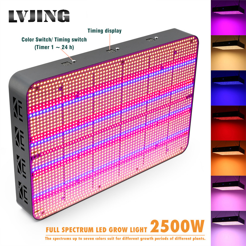 2580 Leds Full Screen LED Grow Light Full Spectrum 2500W Timing For Indoor Plant Flower Veg Hydroponics Grow Tent 7 Color Change