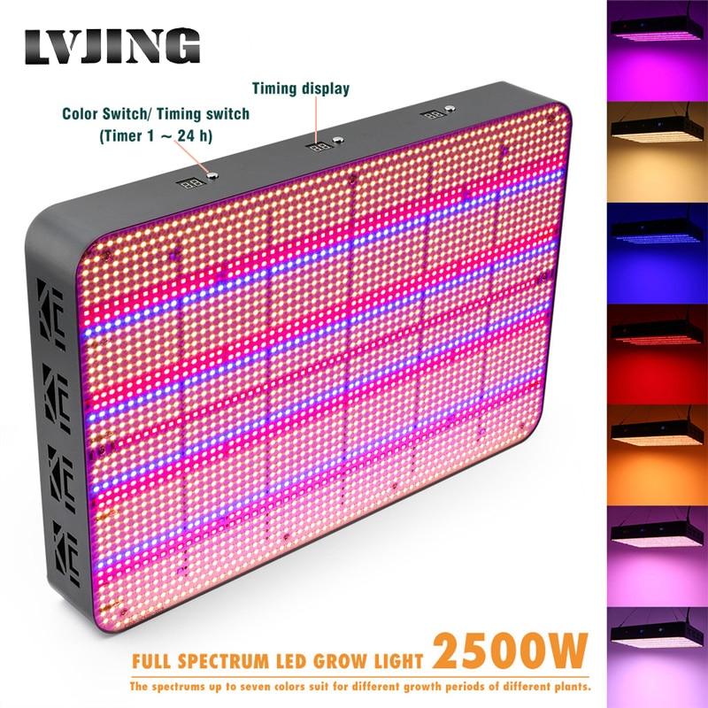 2580 Leds Full Screen LED Grow Light Full Spectrum 2500W Timing For Indoor Plant Flower Veg Hydroponics Grow Tent 7 Color Change