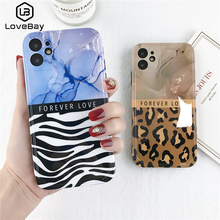 Lovebay For iPhone 11 Leopard Marble Pattern Case For iPhone 11 Pro Max X XR XS Max 7 8 Plus SE 2020 Fashion Soft IMD Back Cover