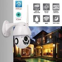 LESHP 1080P H.265 Speed Dome Outdoor WiFi Wireless Pan Tilt IP Camera 2 Way Audio SD Card IR Vision IP ONVIF Video Surveillance