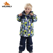 2019 Kids Ski Suit Winter Children Boys Snowsuit Skiing Jacket Pants Ski Sets Outdoor Warm Windproof Snowboarding Sports Suits 2018 new lover men and women windproof waterproof thermal male snow pants sets skiing and snowboarding ski suit men jackets