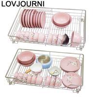 For Rangement Cuisine Cucina Organizer Keuken Stainless Steel Cocina Cozinha Rack Kitchen Cabinet Cestas Para Organizar Basket
