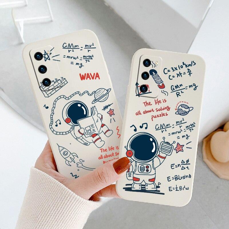 Чехол с милым рисунком для Huawei P40 P40Lite P40pro P40ProPlus P30 P30Lite P20 Pro Mate 40 40Pro 30 20, чехол из жидкого силикона