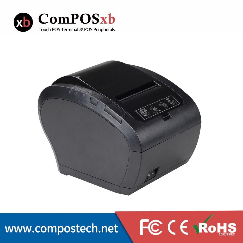 80mm Thermal Printer USB RS232 LAN Commercial Printer For Retailers POS Printer POS System