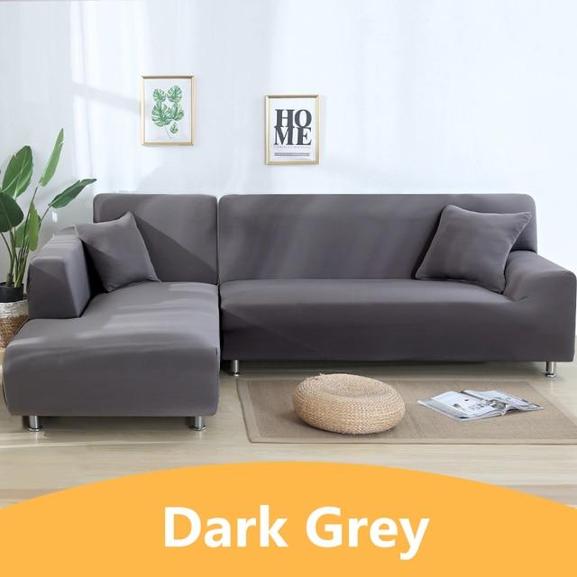Одноцветные Угловые чехлы для диванов для гостиной эластичные спандекс секционные чехлы для диванов растягивающееся полотенце для диванов