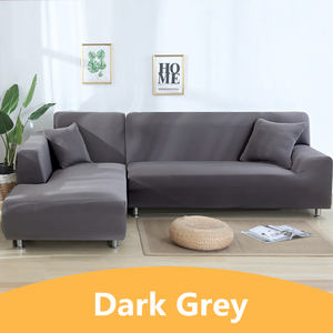 Image 1 - Solid Color Corner Sofa Covers for Living Room Elastic Spandex Sectional Slipcovers Couch Cover Stretch Sofa Towel