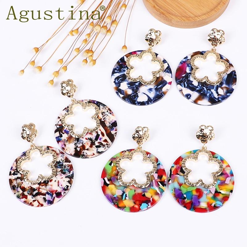 Agustina Fiower Fashion Earrings Jewelry Girls Drop Earrings For Women Punk Earrings Bohemian Earring Stud Earings Wholesale New