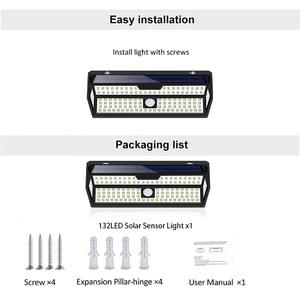 Image 5 - 1/2 Pack LITOM 132 LED solarny czujnik ruchu PIR kinkiet biała lampa ogrodowa IP65 wodoodporna do dekoracji ogrodu