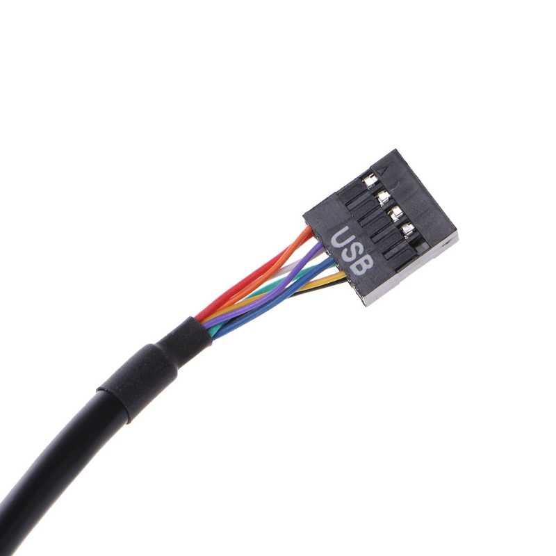 USB 2.0 9 ピンハウジングオス USB 3.0 20 ピンのマザーボードメスアダプタケーブル
