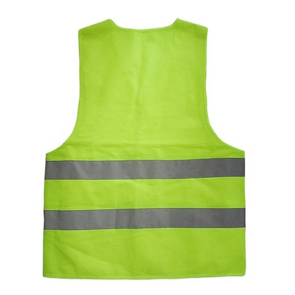 XL XXL XXXL Reflective Fluorescent Vest Yellow Orange Color Outdoor Safety Clothing Running Ventilate Safe High Visibilit