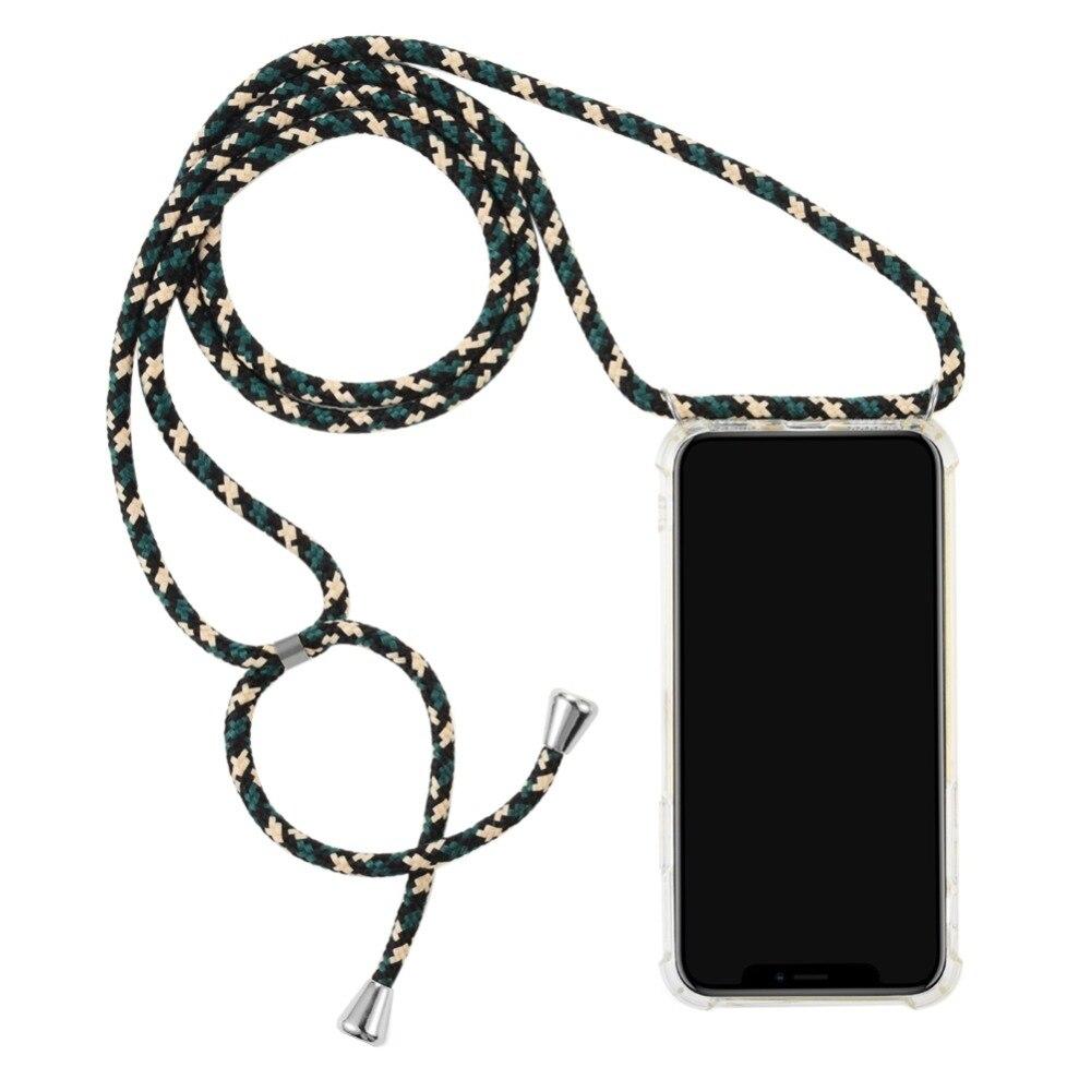Bigcousin Funda con Cuerda Compatible con OPPO Reno 2Z Reno 2F,Ultrafina Suave Transparente TPU con Ajustable Collar Cadena Cord/ón,Rose Gold