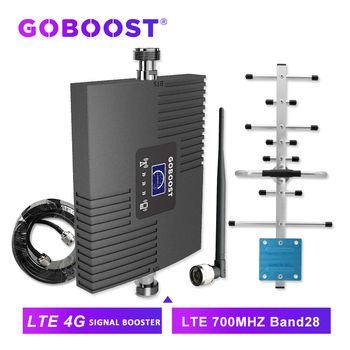 GOBOOST cellular signal booster 4g amplifier LTE 700 mhz cell phone 4g cellular amplifier mobile gsm 2g 3g 4g antenna full band