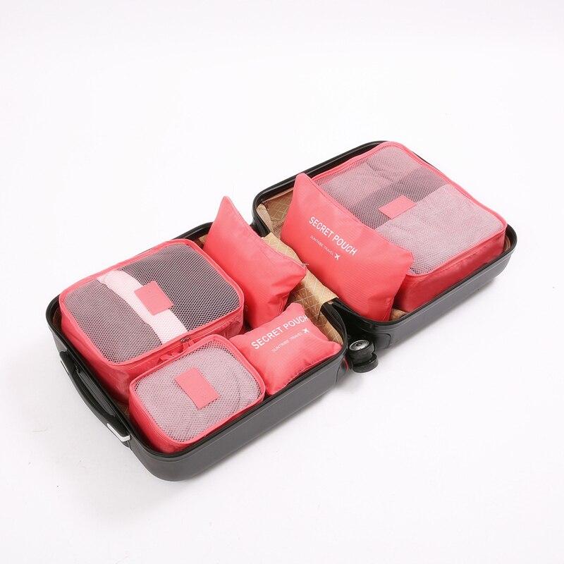 3D 6pcs / Suitcase Storage Bag Clothes Fnishing Set Cosmetics Storage Bag Toilet Household Storage Bag Travel Accessories
