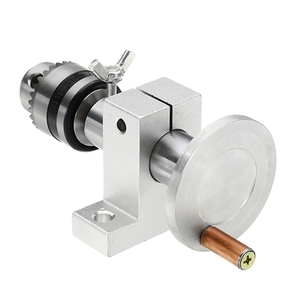 Image 5 - Cabezal central de torno en vivo con portabrocas, accesorios de bricolaje para Mini máquina de torno, Centro giratorio, herramienta de carpintería