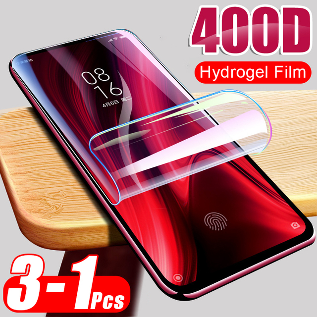 400D 3Pcs Hydrogel Soft Film For Xiaomi Redmi Note 9S 9 Pro Max 7 8 K30 K20 8T Screen Protector Redmi 8 8A Protective Not Glass