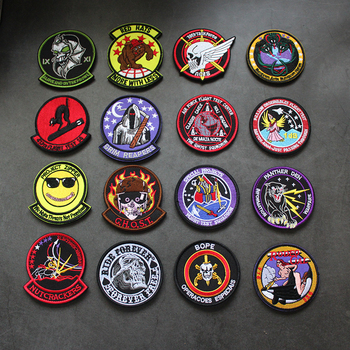 Rodeo Gal Chost Grim Reapers Alpha Frace GIPN Embroidered Sew On Applique Fabric Badge DIY Apparel Accessories For Clothing image