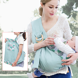 0-36M Baby Carrier Newborn Sling Dual Use Infant Nursing Cover Carrier Mesh Fabric Breastfeeding Ergonomic Kangaroo Baby Wrap