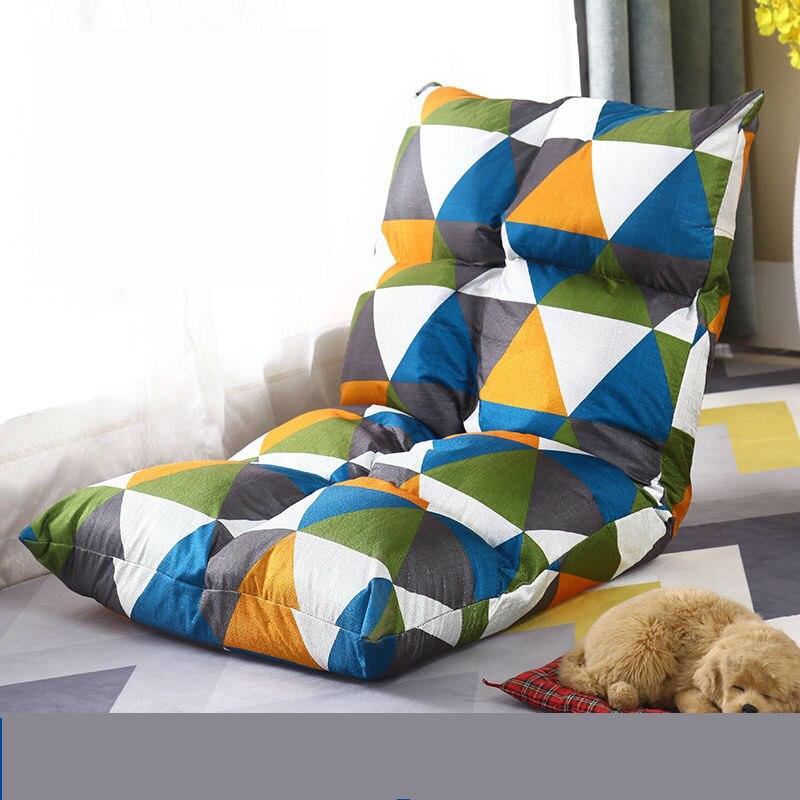 Paresseux canapé canapé canapé riz dortoir pliant simple dos petite famille chambre balcon personnalité peut défaire et laver
