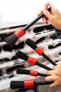 Image 5 - 5 sztuk Detailing szczotka szczotka do mycia samochodu do mycia wnętrza samochodu czyszczenie koła Gap felgi Dashboard atrapa wylotu powietrza Detailing Tool