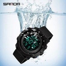 мужские часы waterproof digital watch alarm date