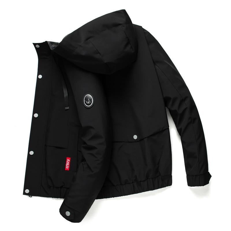Мужская водонепроницаемая куртка с капюшоном, дышащая повседневная куртка, весенне-осенняя верхняя одежда, ветровка, туристический горный ...