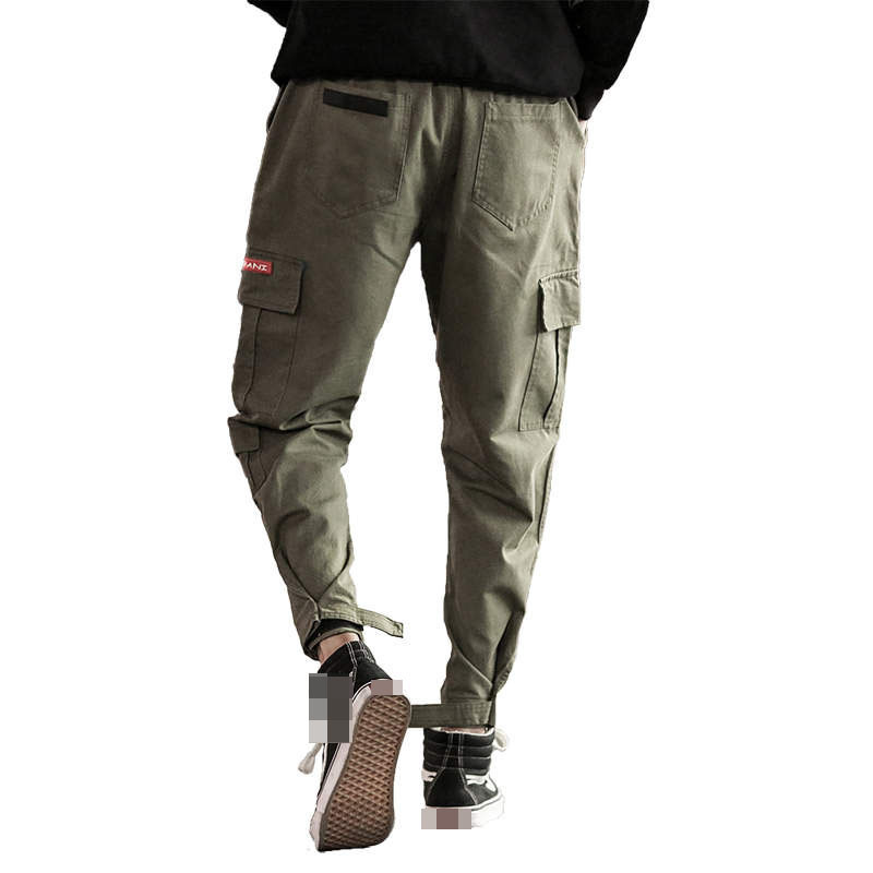 2019 Streetwear Pockets Cargo Pants Men Solid Color Casual Jogger Fashion Tactical Trousers Tide Side Pocket Overalls New