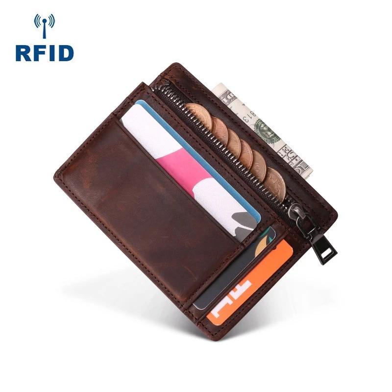 Brand New Men/'s Zip Credit ID Travel Card Holder Cash Coin Money Clip Wallet