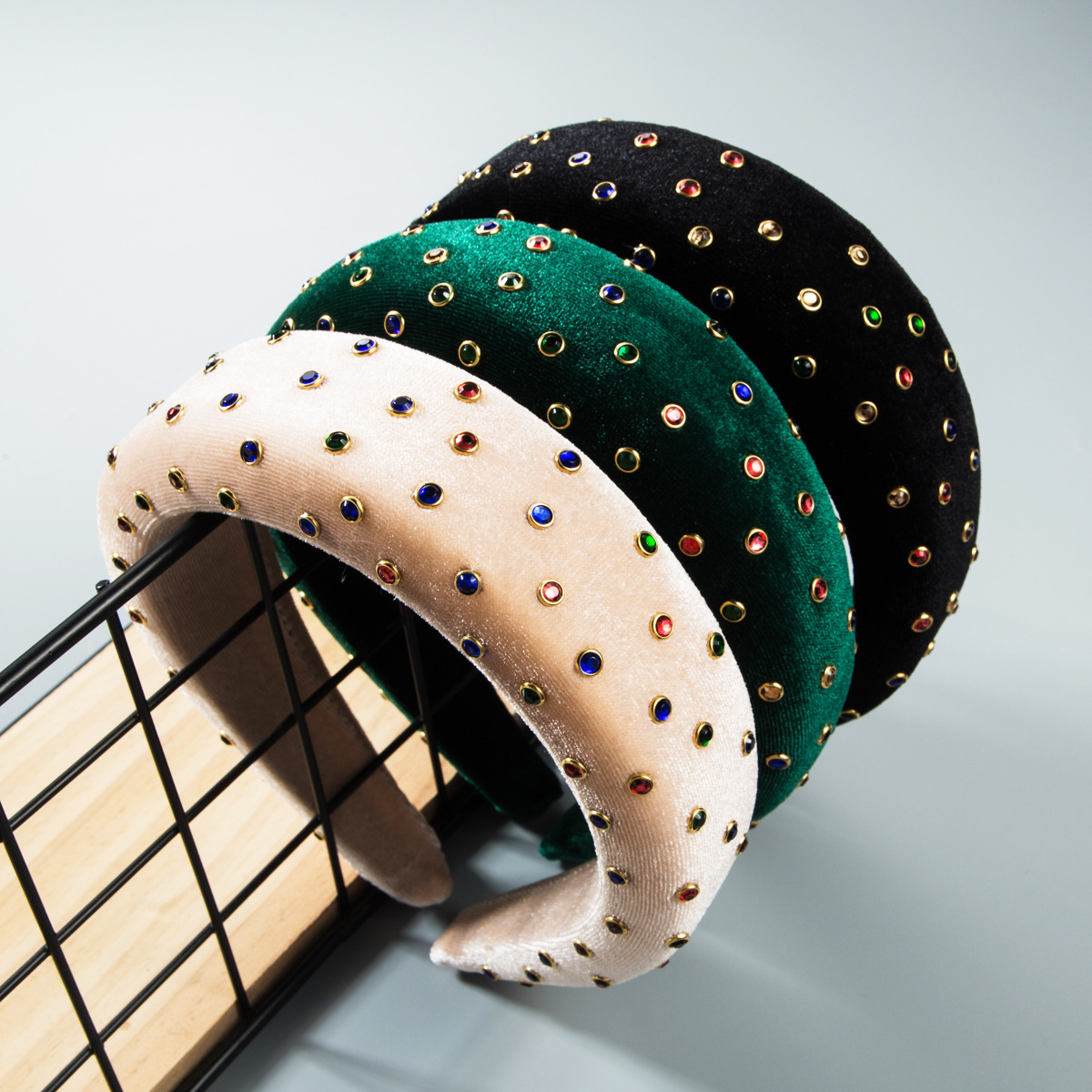 Thicken Padded Hairbands Bezel Turban Women Fashion Western Style New Solid Colors Headbands Girls Accessories Headwear