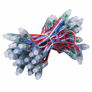 1000 шт WS2811 5 В/12 В 12 мм полноцветный модуль дисплей рекламный экран открытый светильник для орошения пластиковый водонепроницаемый RGB кабель