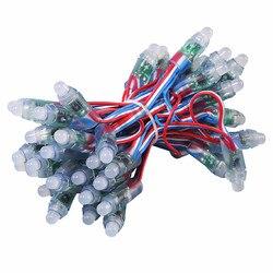 1000 stücke WS2811 5 V/12 V 12MM voll farbe modul display werbung bildschirm ausgesetzt licht bewässerung kunststoff wasserdicht RGB kabel
