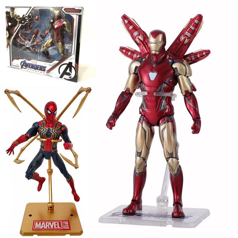 17cm marvel mk 85 homem de ferro os vingadores 3 homem aranha de ferro incrível homem aranha móvel figura de ação modelo brinquedos para crianças