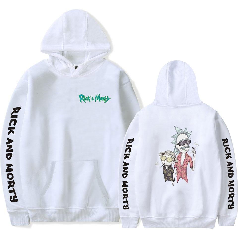 Kpop 2019 NEW Rick And Morty Rick Sanchez Morty Smith Printing Hooded Sweatshirt Women/Men Clothes Casual Hoodie Sweatshirt