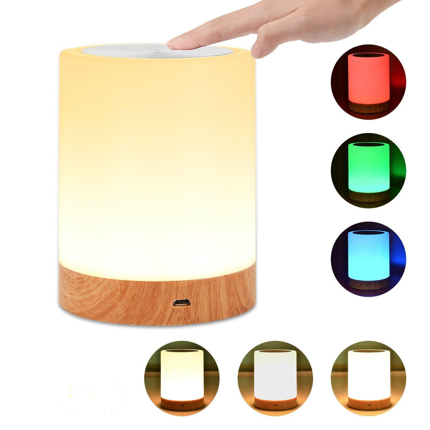 Innovative LED Touch Control Night Light Induction Dimmer Lamp Smart Bedside Lamp RGB Color Change Rechargeable Night Lamp
