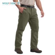 Wolfonroad ao ar livre calças de lã dos homens à prova dwaterproof água ao ar livre inverno à prova vento calças caminhadas acampamento do exército calças táticas masculino