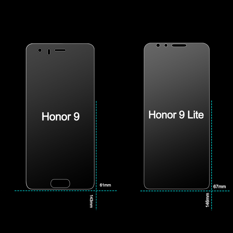 Image 3 - 2Pcs Glass for Huawei Honor 10 9 Lite Glass Screen Protector on Honor 9X Pro Protective Tempered Glass for Honor 9 10 Lite Light-in Phone Screen Protectors from Cellphones & Telecommunications on