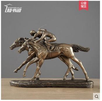 Конные гонки винный шкаф мебель Верховая езда лошадь Скульптура ECORATION гостиная винный шкаф персонаж движущиеся подарки