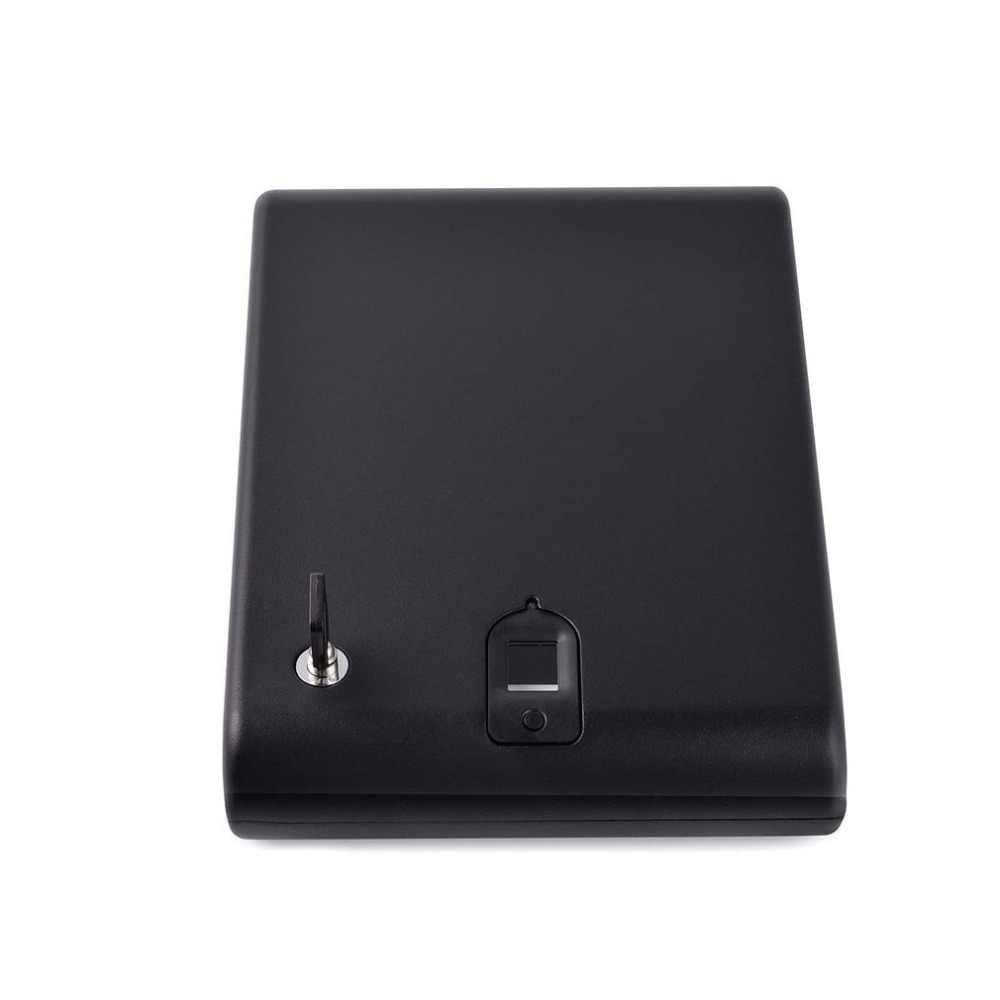แบบพกพาลายนิ้วมือปืนตู้นิรภัยกล่องลายนิ้วมือปลอดภัย Sensor กล่องความปลอดภัย Keybox OS100A Strongbox สำหรับมีค่าเครื่องประดับงบ