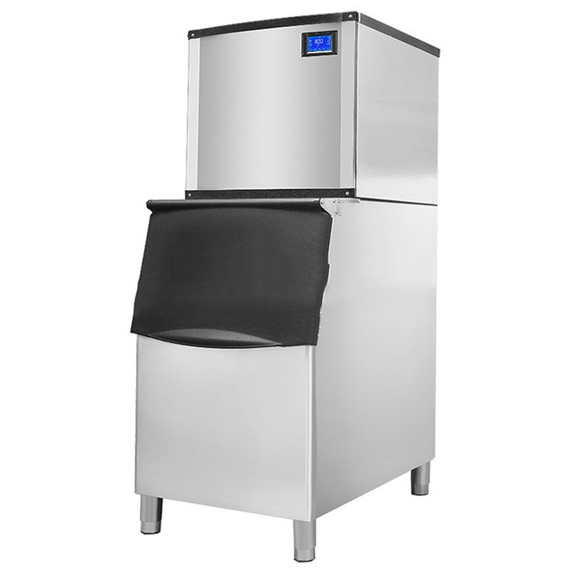Commercial Full-automatic Ice Machine Large Ice Machine Milk Tea Bar KTV Cube Thickened Stainless Steel Ice Machine