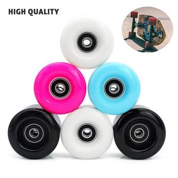 1/4 Uds ruedas blandas de monopatín de alta velocidad 82A 58mm * 32mm PU piezas de patines de ruedas dobles duraderos + 608 accesorios de rodamientos