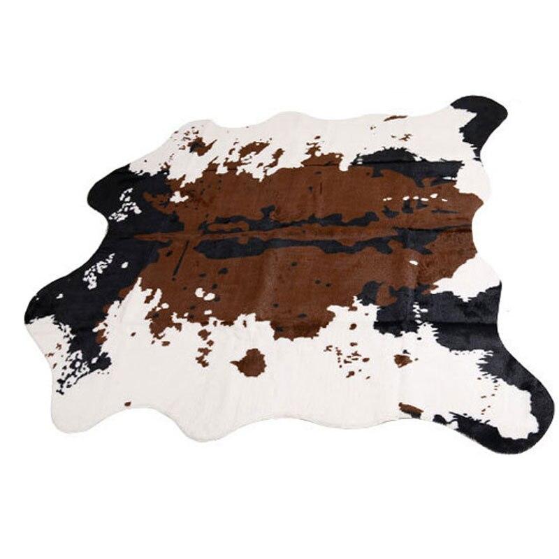 Sholisa Faux peau de vache tapis de sol à la main Simulation peau d'animal en cuir zone tapis Carpert peau de vache peau pour salon