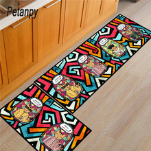 Features Kitchen Mat Cheaper Anti-slip Modern Area Rugs Living Room Balcony Bathroom Carpet Set Doormat Bath in The Hallway