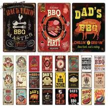 Placa de letrero de Metal Placa de letrero de estaño de papá para decoración de pared de Metal para barbacoa Bar Pub cocina fiesta zona Vintage Metal signos hierro pintura