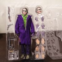 1/6 Scale Clown The Dark Knight Joker Heath Ledger Action Figure Toys Model 12 Inches for Boys Gift Collectible Display HC