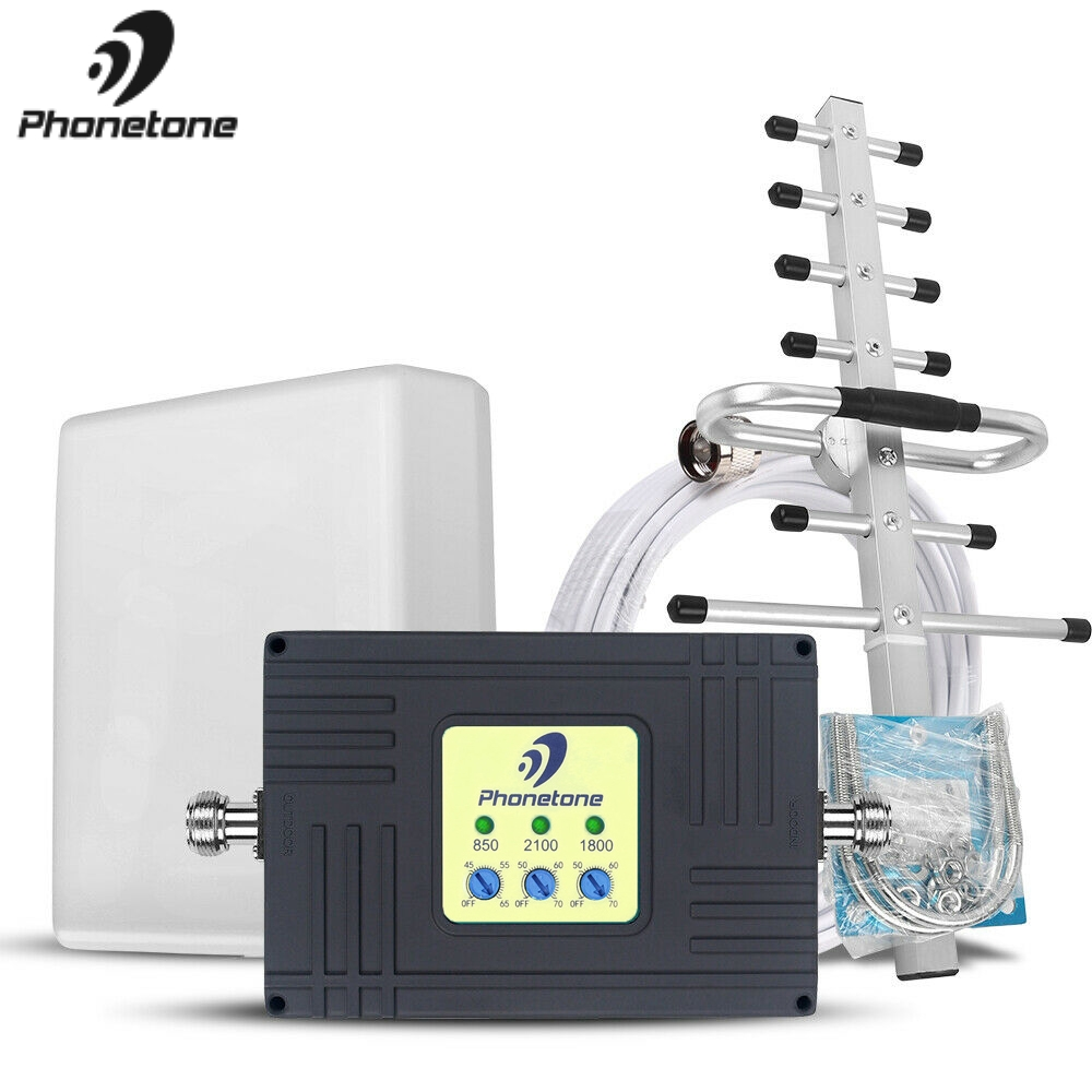 2G 3G 4G GSM Repeater Tri-Band Cell Phone Signal Booster CDMA 850 DCS 1800 WCDMA 2100 4G LTE Cellular Amplifier For New Zealand
