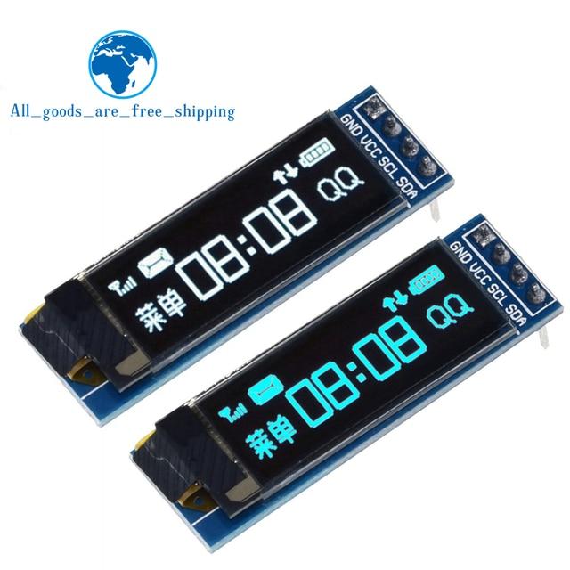 Módulo OLED para ardunio, pantalla LED de 0.91 pulgadas, IIC, comunicación, LCD, 128x32, blanco/azul