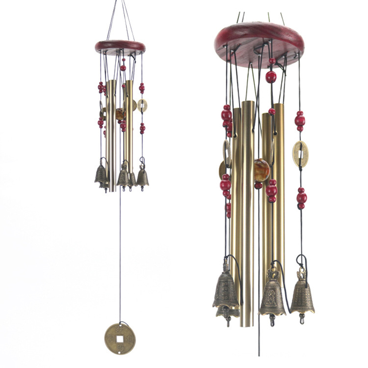 1Pc Antirust Wind Chimes Tubes Bells Wall Hanging Decorations Lovely Outdoor Living Yard Garden Ornaments Home Decor Gift