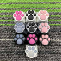 Df Aluminio Y Silicona Kitty Paw Artigianale Keycap Gatto Pad Compatibile con Interruptores Cherry Mx Metallo Keycap