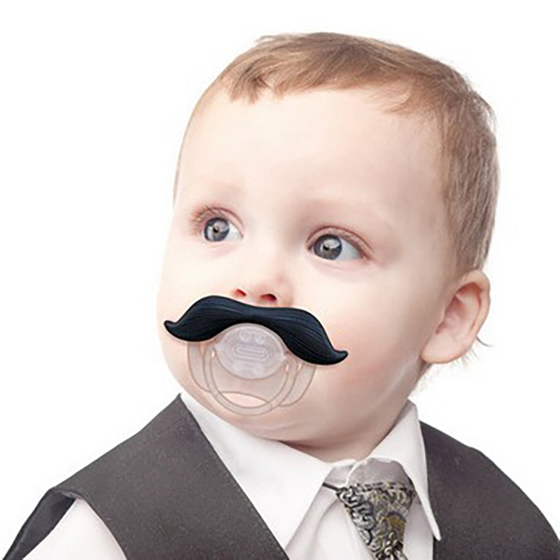 Newborn Infant Pacifier Nipple Silicone  Feeding Soother Baby Novelty Cartoon MoustacheThumb