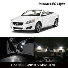 13Pcs Weiß Canbus led Auto innen lichter Paket Kit für 2006-2013 Volvo C70 led innen Dome Trunk lichter