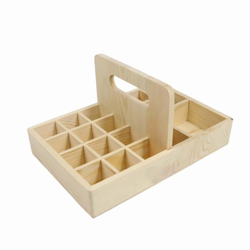 Wooden Essential Oil Storage Box Natural Wood Aromatherapy Box Handmade Craft for Home Decor 22*15*11.3cm